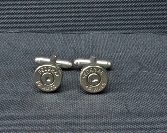 Bullet Shell Cufflinks-Silver Federal .45 Auto Handcrafted Cufflinks