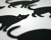 Black Cat Die Cut, Halloween Die Cut, Black Cat Paper Shape