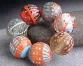 MruMru Handmade Lampwork Glass Bead  set. Sra.