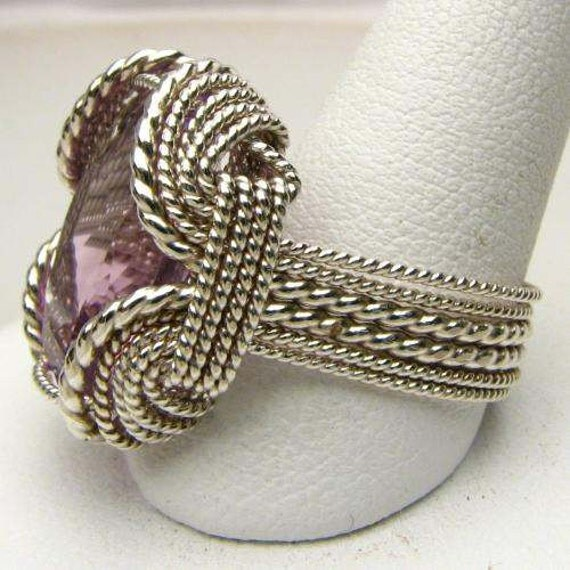 Handmade Ring Sterling Silver Ring Wire Wrapped Ring Amethyst Ring Faceted Amethyst Gemstone Ring