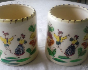 Vintage Dancing Folk Mugs