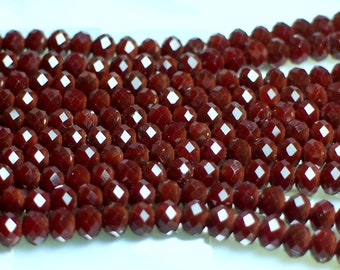 Rondelles 4 x 3mm Red Velvet Ruby red Chinese crystal strand 50pcs