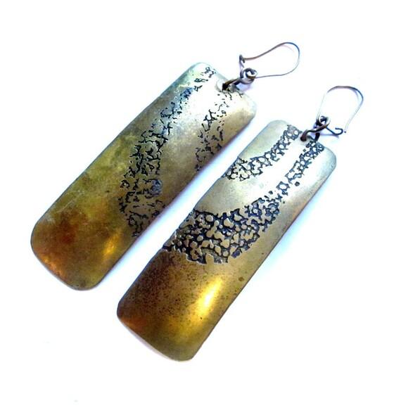 Boho Brass Pierced Earrings