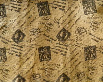 French and Italian Farmhouse Stamped Burlap Extra Extra Wide