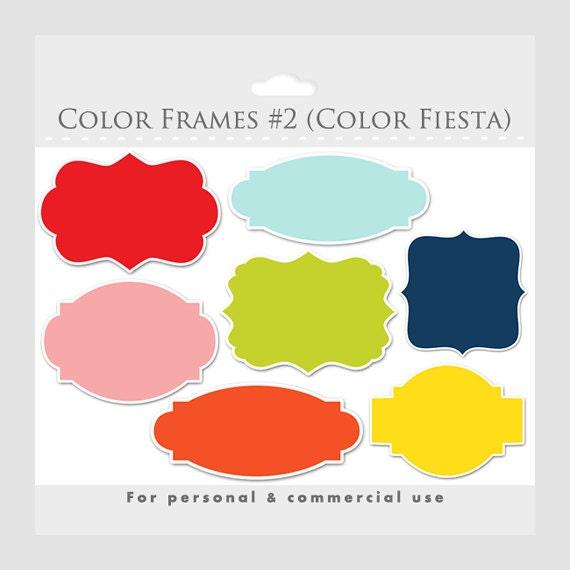 color frames clipart elegant frames ornate flourish frames digital frames collage and scrapbooking for commercial use - Elegant Frames
