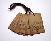Autumn Tree Gift Tags // Set of 6 in Kraft brown