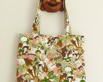 Reusable Fabric Shopping Bag Book Bag Kawaii Anime Tote Bag