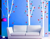 Skinny Birch Trees Wall Decal - Wall Stickers