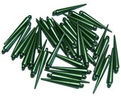 Spike beads green colored spikes 25