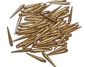 Mini Spike beads gold colored spikes 50