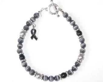 MELANOMA CANCER Awareness Bracelet
