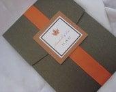 Falling in Love Custom Pocketfold Invitation