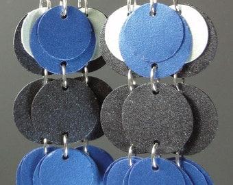 Paper Earrings in Blue
