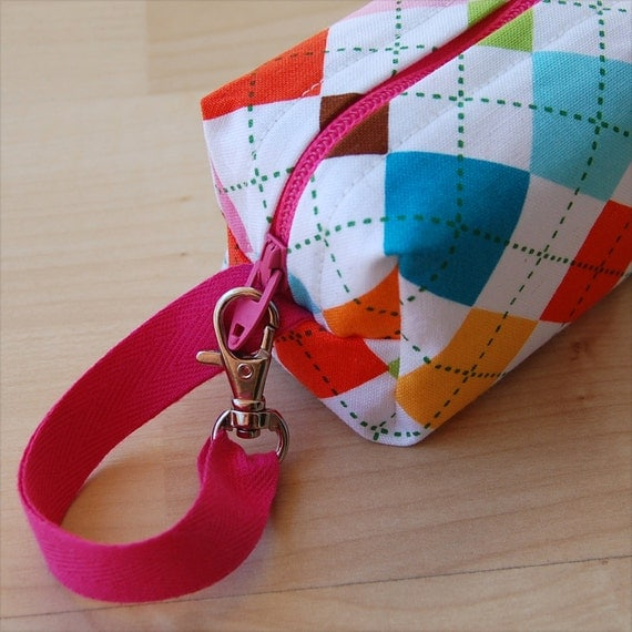 Bright Argyle Mini (Pacifier Pouch)