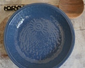Ocean Blue Bowl - medium handmade bowl - Wobbly Plates Series