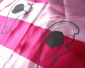 Pink Stripe Mouse Skull Patches