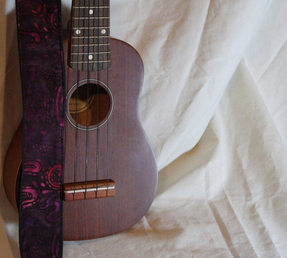 RESERVED FOR NICK Vegan Mandolin Strap-The Purple Cosmos-