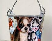 Retro-Baby Animals-Storage Bucket
