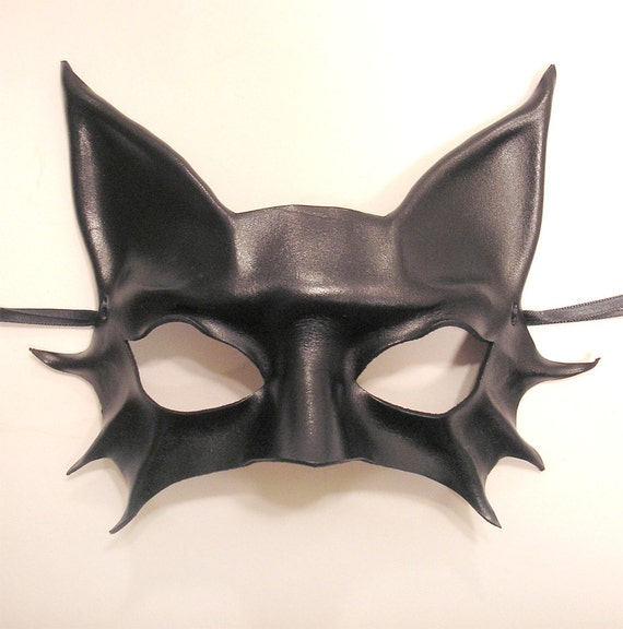 Little Kitty Black Cat Leather Mask
