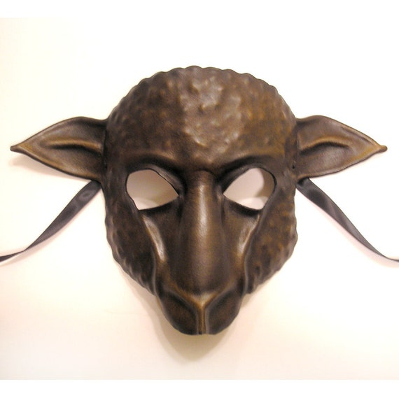 Sheep Leather Mask it's actually dark brown grey and black but could be a Black Sheep