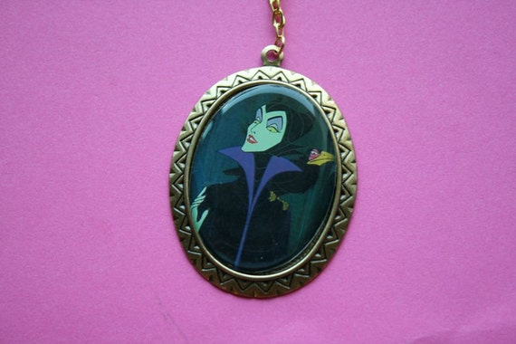 Large Maleficent Cameo Necklace
