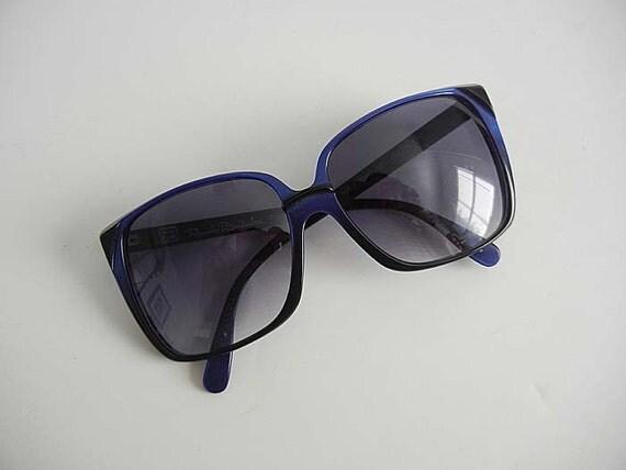 80s sunglasses / Vintage 1980's Into the Blue Renato Balestra Oversize Italian Sunglasses