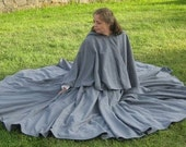 Custom Cotton Twill Full Circle Great Cloak SCA Renaissance Faire LARP Medieval