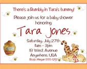 Winnie the Pooh Baby Shower Invitations with Matching Mommy Advice Card & Bring a Book