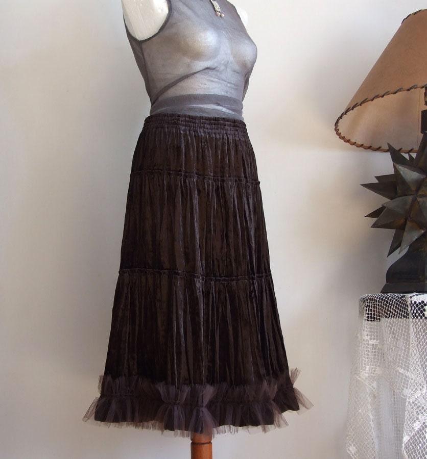 Brown Velvet Skirt 88