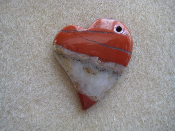 Red River Jasper Heart Pendant