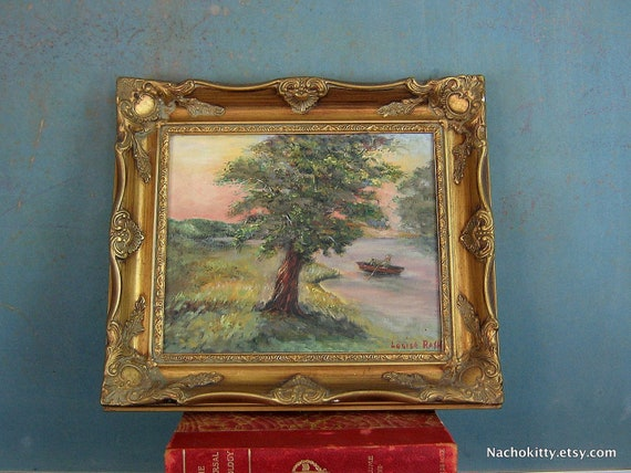 Fine Oil Painting by Louise Rash, Southern California Artist, Early & Mid 20th Century