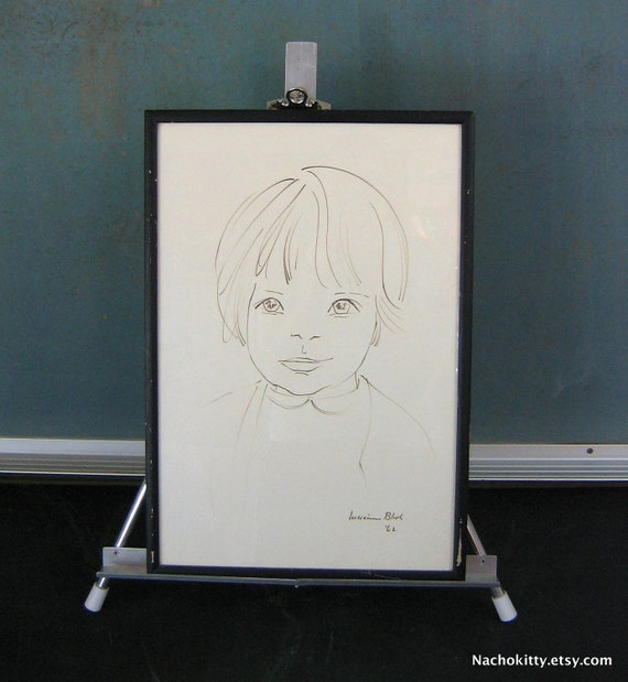 Lucienne Bloch Sketch of Child Circa 1962, Listed Artist