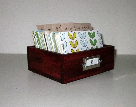 Address Card File...Petite...Rolodex...Wedding Guest Book Alternative...Handcrafted...Organizer...Business Card