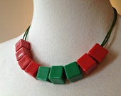 Rubiks Cube inspired - Adjustable Necklace