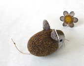 Mouse Plush Wool Folk - Pocket Mouse - Garden Variety