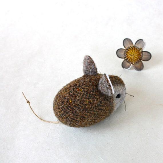 Mouse Plush Wool Folk - Pocket Mouse - Garden Variety