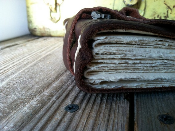 Classic Skeleton Key Rugged Leather Journal by Binding Bee