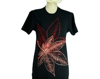 Black Japanese Momiji, Maple Leaves Summer T-Shirt, Men, Women, Unisex - Gifts for Him or Her