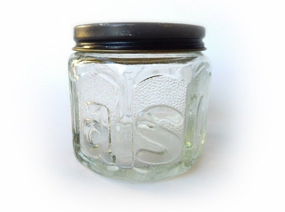 Vintage Barbasol Glass Jar Barber Shop Collectible Shaving Toiletry Beauty Accessory Man Cave Decor 1940's to 1950's