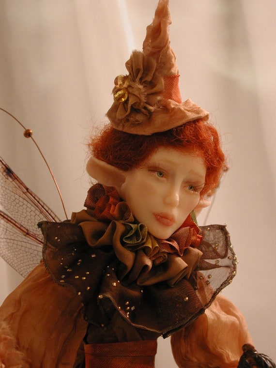 OOAK Halloween Fairy/Witch Art Doll by Bonnie Jones