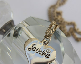 Stjern Design Je Taime Necklace Inscription Jewellery Bridal Jewellery Romance French France Love Jewellery gift for Her