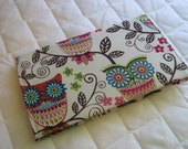 CUSTOM MADE to Order Checkbook Cover Coupon Organizer Owl Owls Floral Vines