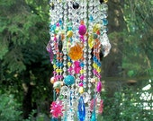 Hot Tropics Jeweled Antique Crystal Wind Chime