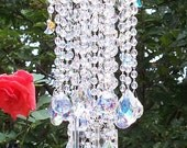 Moons and Stars Aurora Borealis Antique Crystal Wind Chime