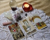 Psychic Tarot Reading - Will I Find Love Card Spread - Third Eye Intuition - Images & Written Information sent via Email