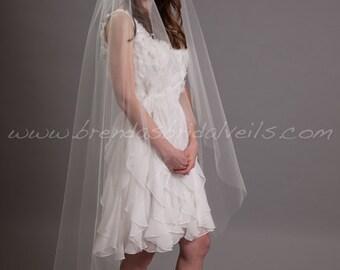 "Bridal veil, Wedding veil , Waltz Tulle Bridal Veil 52"" Single Layer Veil, Wedding Veils - Shakira Veil"