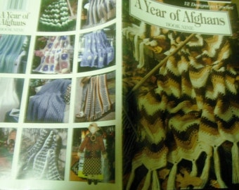 Afghan Crochet Pattern Leaflet A Year of Afghans Book 9 Leisure Arts 3026 Crocheting Patterns