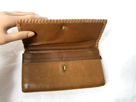 Geniune Leather Wallet. Billfold  cards and change womens wallet.