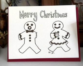 Funny Christmas Card - Gocco - Gingerbread Cannibals