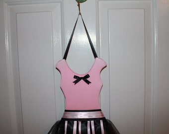 Princess Ballerina Bow Holder - Pink Top with Black Skirt